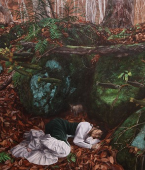 The Maiden Sleeping in front of Symbolic Rock