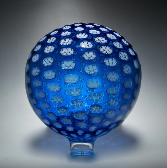 Aqua/White Thread Sphere